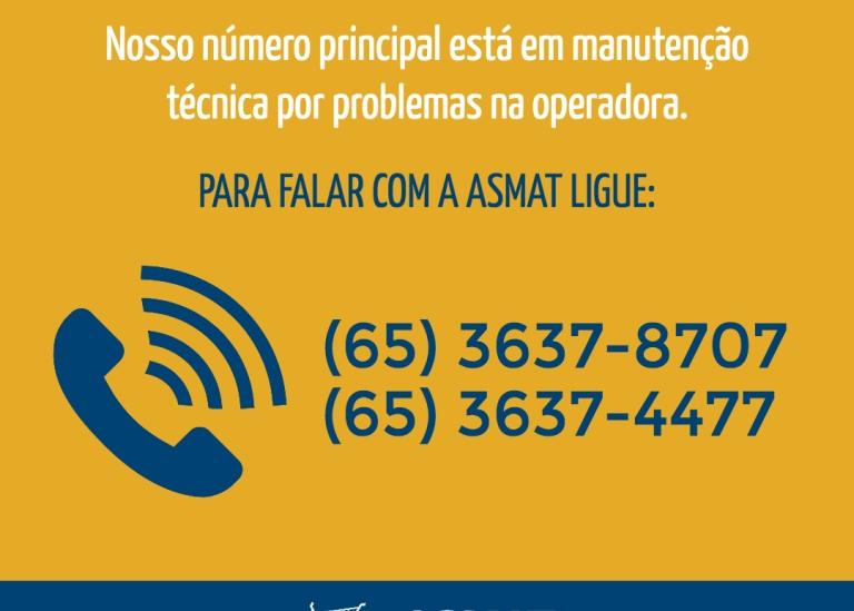 ATENÇÃO - TELEFONE ASMAT