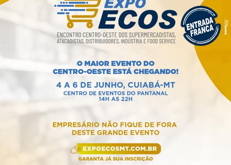 Expo-Ecos MT 2019 inicia na próxima terça-feira (04)