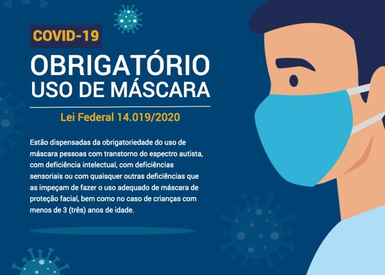 Lei Federal 14.019/2020 - Uso de Máscara