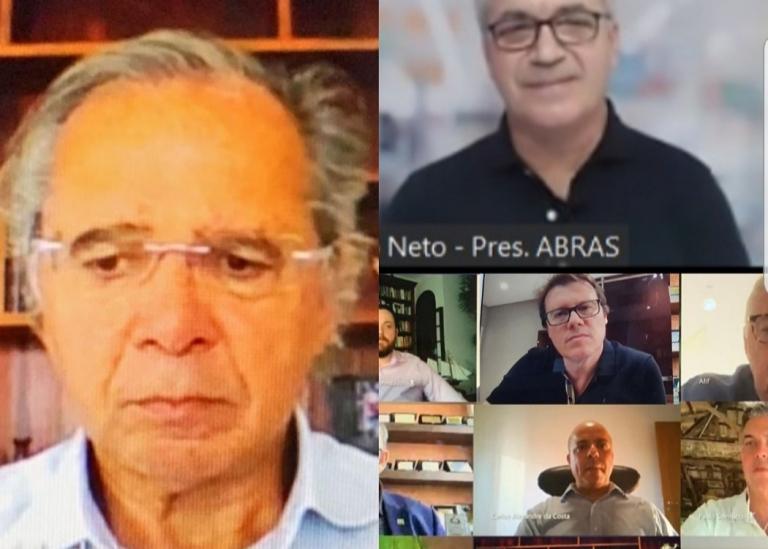 PRESIDENTE DA ABRAS PARTICIPA DE VIDEOCONFERÊNCIA COM O MINISTRO PAULO GUEDES