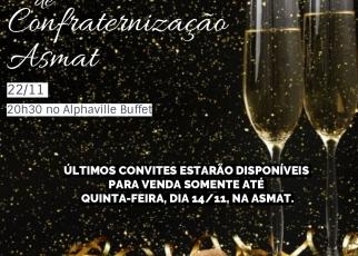 Últimos Convites Jantar da Asmat - vendas encerram amanhã!